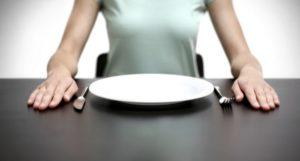 Снятие обострение при помощи голодания